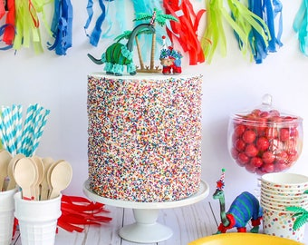 Ready To Ship Full Sprinkle Cake- Fake cake, prop cake, party decor