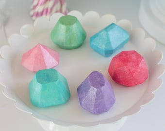 Pastel Gem Chocolates- Fake candy, prop candy, party decor