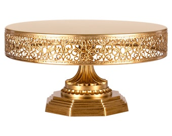 12 Inch Vintage Round Metal Cake Stand- 4 colors