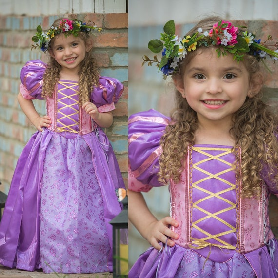 Ella Cosplay Princess Dress Cinder Ball Gown Toddler Princess Dress Girl Kid Birthday Halloween little girls size dresses Tutu