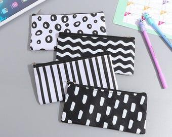 Pen Case - Black & White - Pencil Case