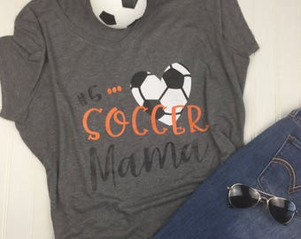 b6bf9f17fca9 Soccer Mom Shirt, Shirt for soccer mom, mom life shirt, Soccer Mom T shirt,  mothers day gift, Team Mom gift, gift for mom, soccer mama shirt