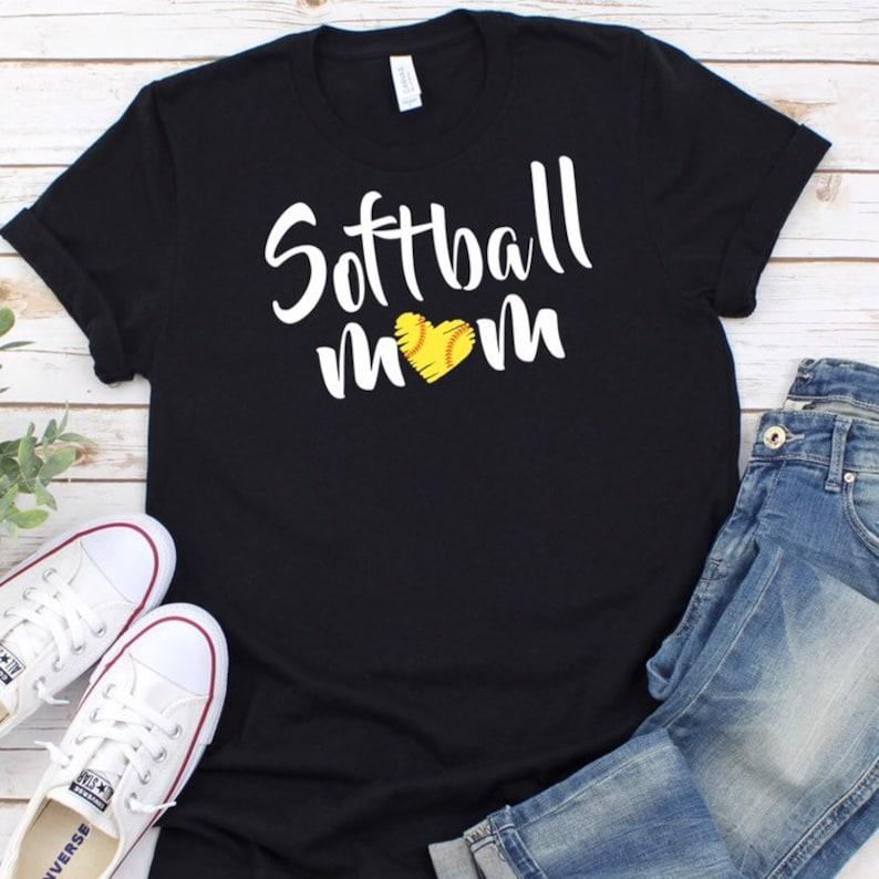 Softball Mom T Shirt Mom Life Shirts Gift For Mom Mom Etsy