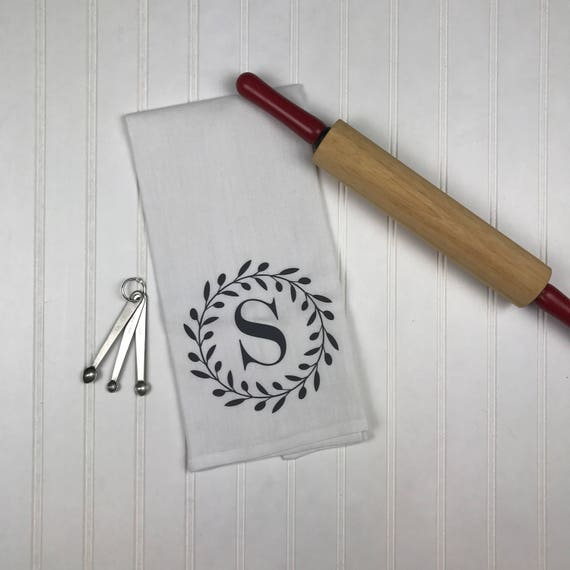 Monogrammed Kitchen Towels | Personalized Monogram Kitchen Towels Christmas Hostess Gift Etsy