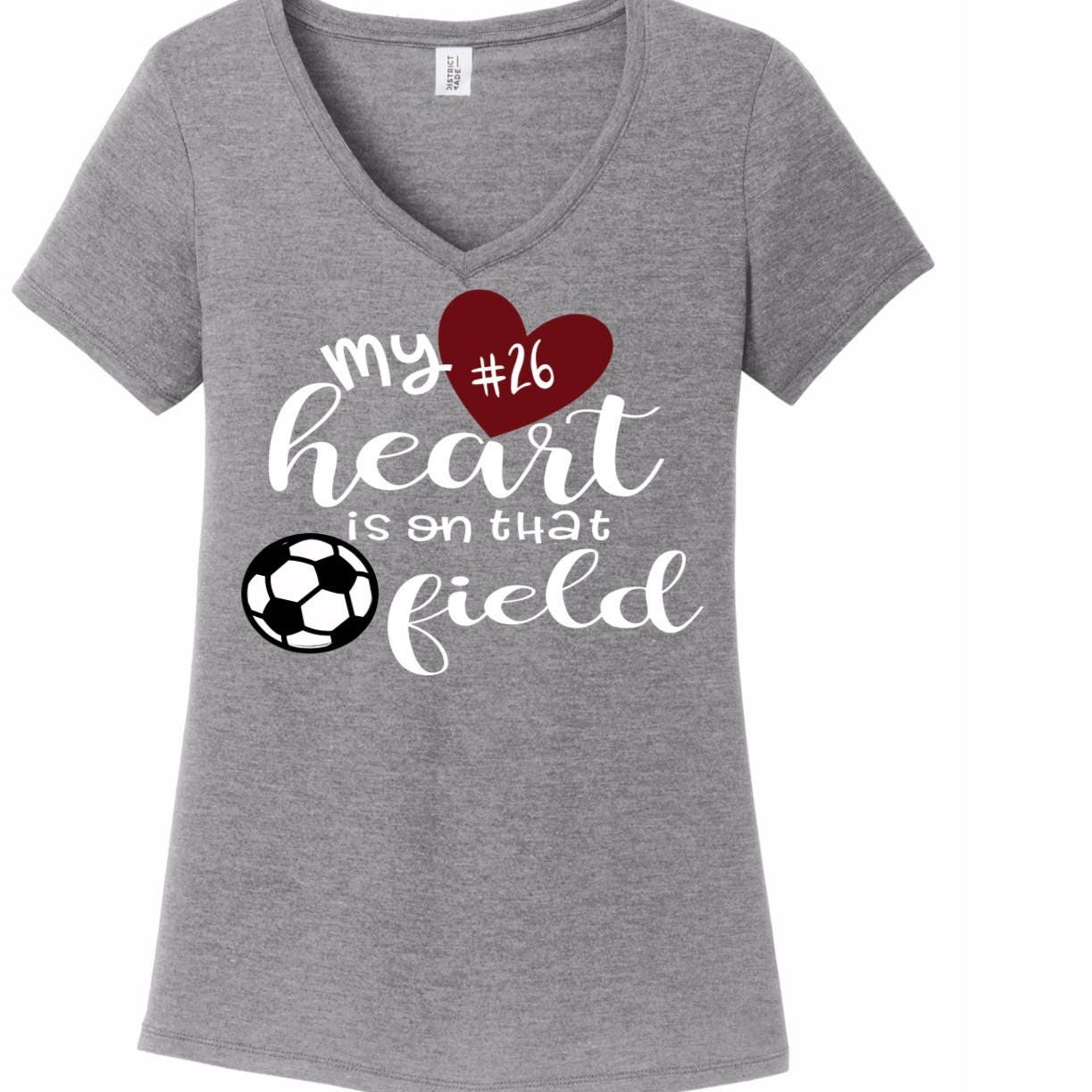 Soccer Mom Shirt My Heart Is On The That Field Soccer Shirt Etsy