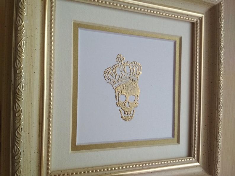 Skull crown wall hanging decor art