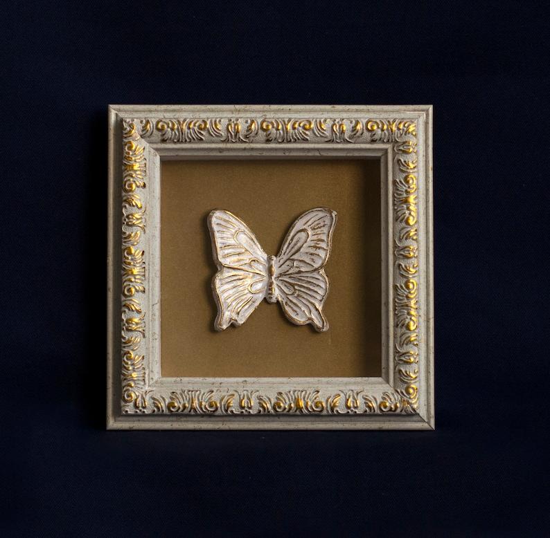 3d frame white artwork butterfly decor
