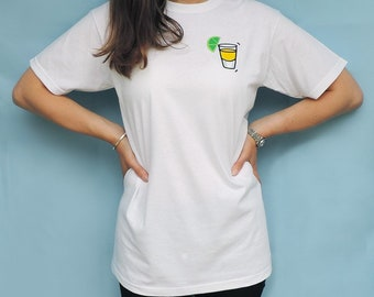Embroidered unisex  Tequila  T-shirt c07d5622e