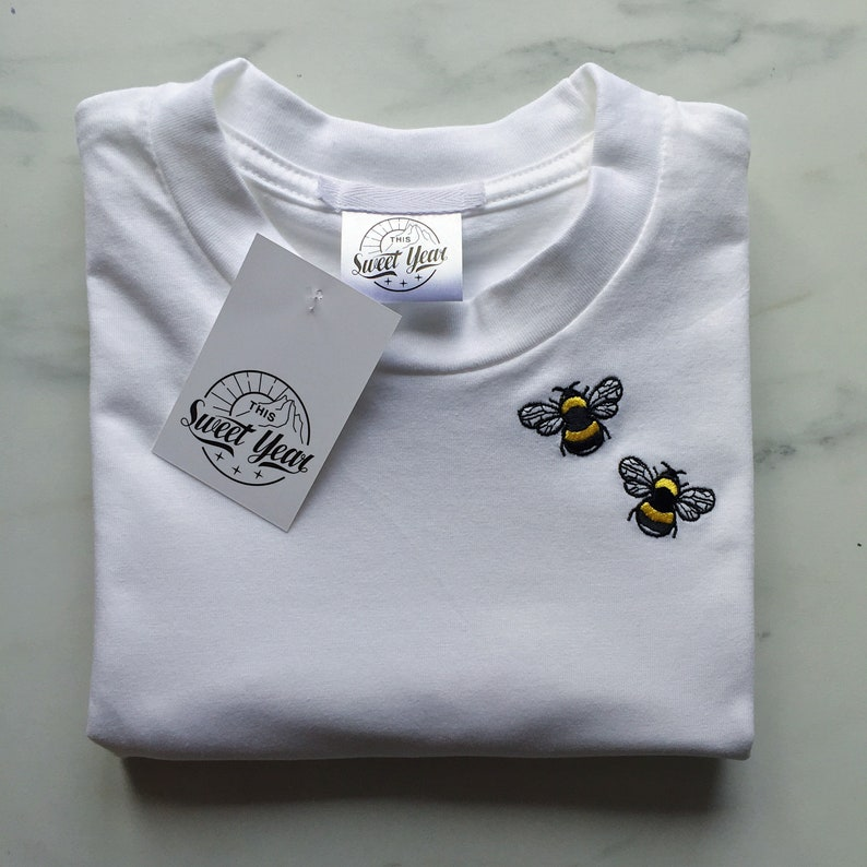 Embroidered unisex Bee T-shirt image 0