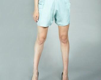 LASALINA - Jeans SHORTS made of organic cotton
