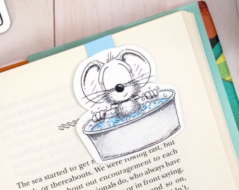 Magnetic Bookmark, Planner Bookmark, Mouse