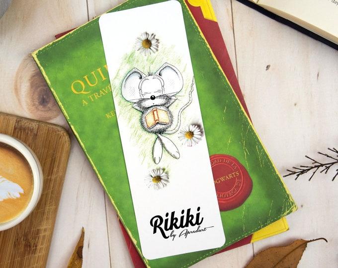 Laminated Bookmark, Illustrated Mouse Bookmark