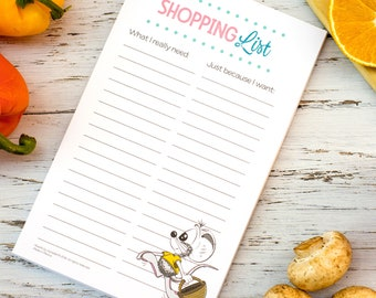 Shopping List Notepad, Magnetic notepad for fridge