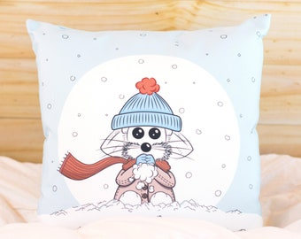 Winter Pillow Cover, Decorative Pillow