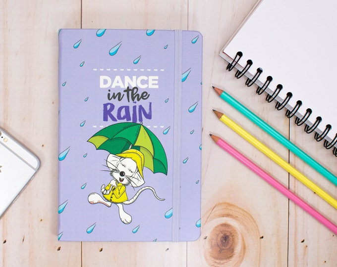 A5 journal, Hardcover notebook, Blank pages, Illustrated notebook