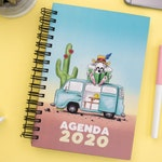 Agenda 2020, Planner 2020, Yearly planner 2020, Daily planner 2020, Monthly planner 2020, Desk agenda, Desk planner, Hardcover planner 2020