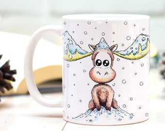 Moose mug, Winter mug