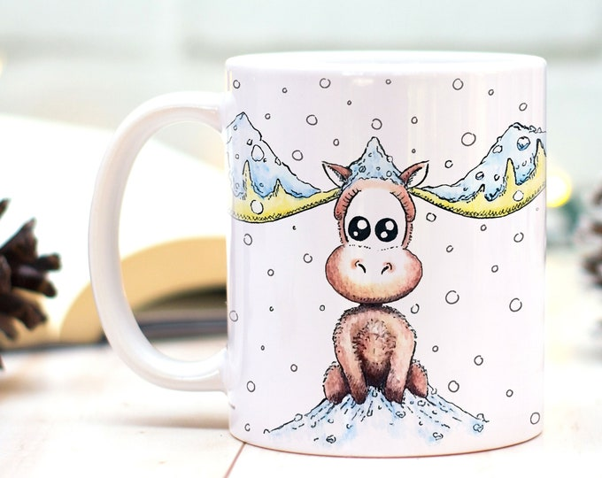 Moose mug, Winter mug