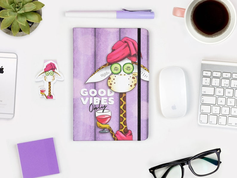 Good Vibes Notebook A5 Journal Hardcover journal Ruled image 0