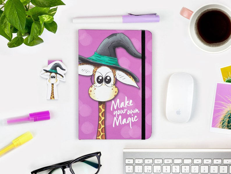 Cute Witch Notebook A5 Journal Hardcover journal Ruled 1 Notebook