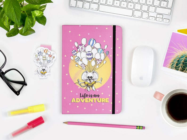 Cute College Notebook A5 Journal Hardcover journal Ruled 1 Notebook