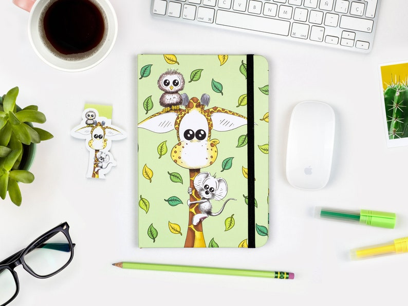 Cute Animal Notebook A5 Journal Hardcover journal Ruled image 0