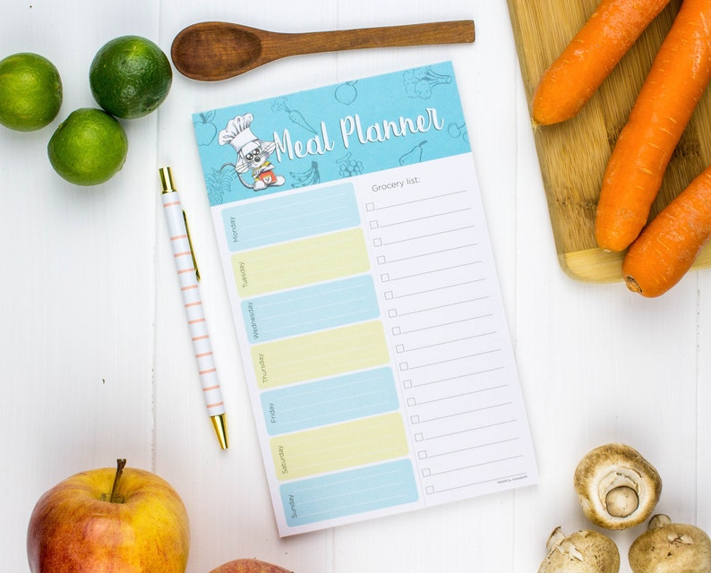 Meal Planner Notepad Grocery list notepad Meal Planner 1 Notepad