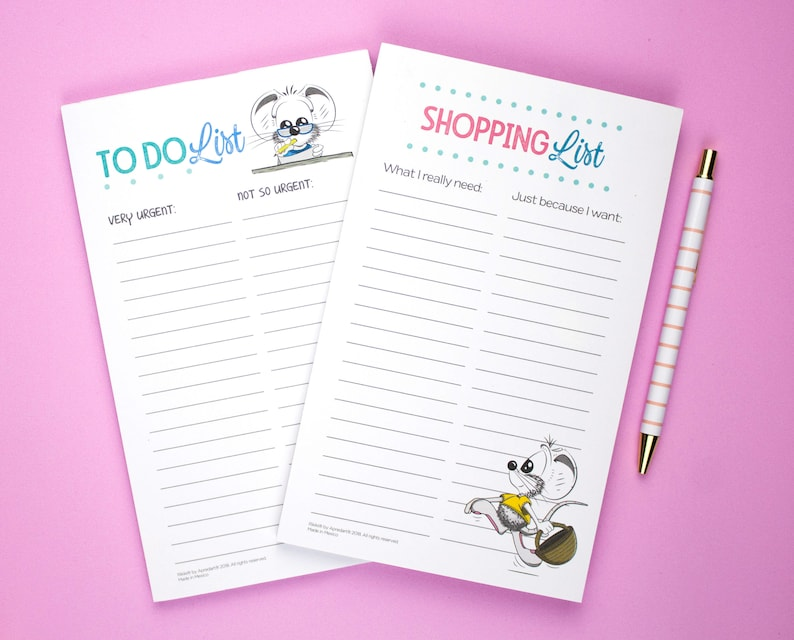 Notepad Set of 2 To Do List Notepad Shopping List for the image 0
