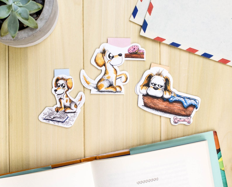 Dog Magnetic bookmark set Dog Planner bookmark set Dog image 0