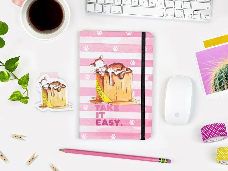 Cute Cat Notebook A5 Journal Hardcover journal Ruled 1 Notebook