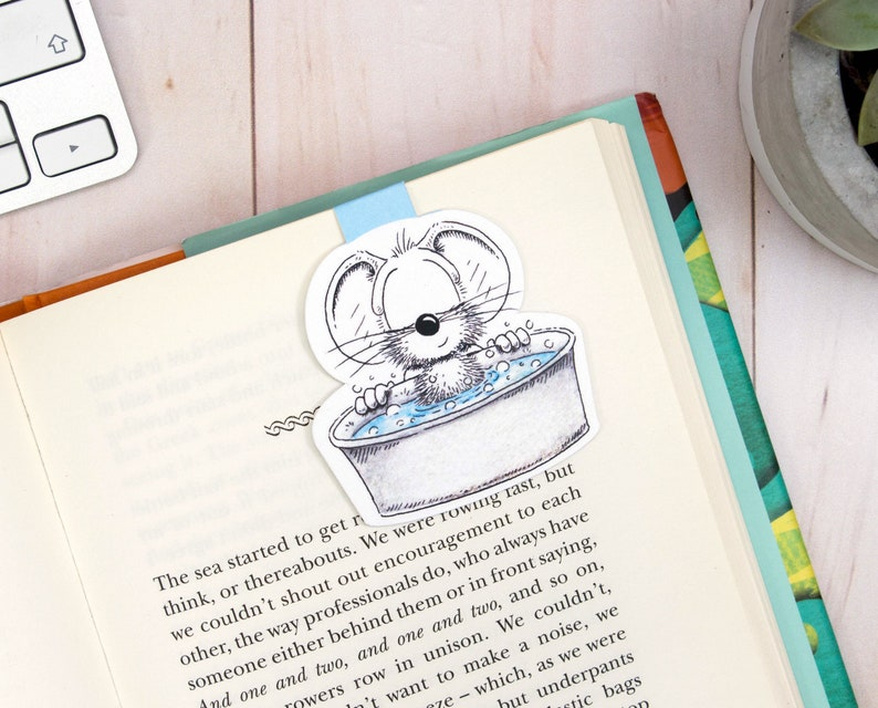 Fun Magnetic bookmark Mouse Planner bookmark Cute Mouse image 0
