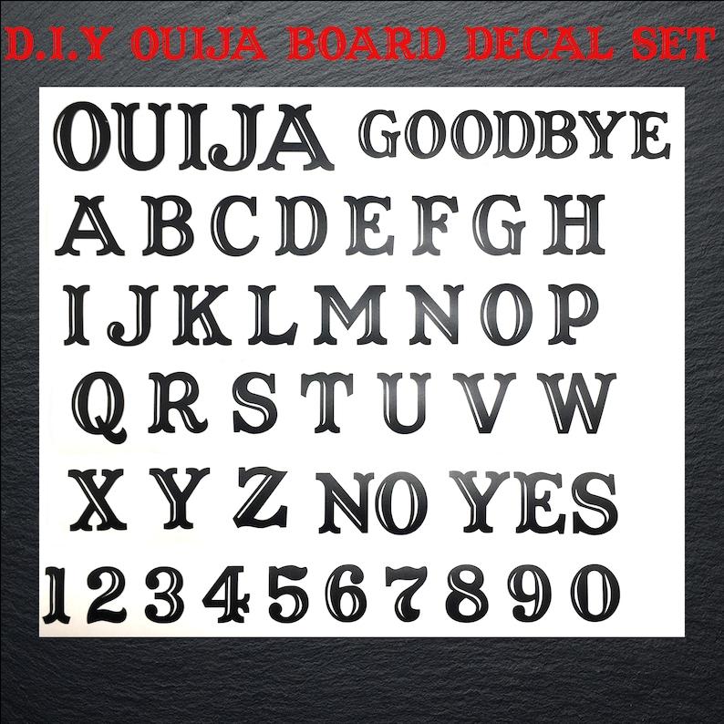 d.i.y. ouija board decal set ouija board vinyl decals | etsy