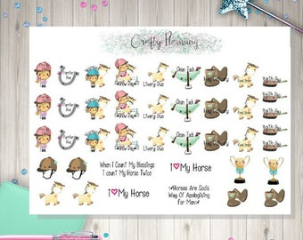 Horse Care Riding Planner Stickers