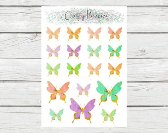Beautiful Watercolor Butterflies, Pastel Butterflies, Butterfly Stickers