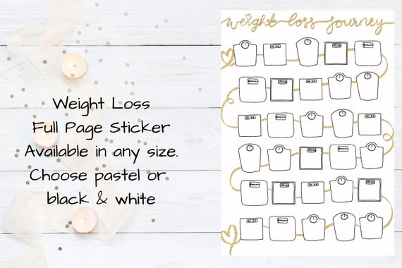 Personalised Name Sticker Label for Weight Loss Book Slimming World Pack Journal