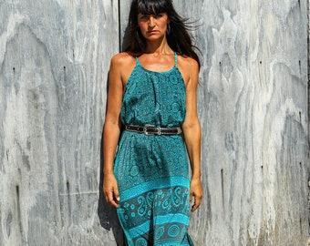Silk Long Dress / easy fiting / Boho chic / Summer beach / Resort wear / Ibiza Style
