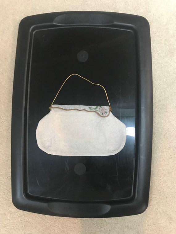 vintage purse, vintage beaded purse, hand beaded p