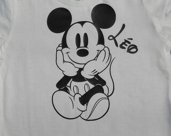 Kids T-shirt Mickey personalized name