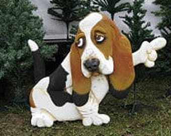 BEAGLE: Hand carved and painted foam