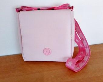 Pink faux shoulder bag