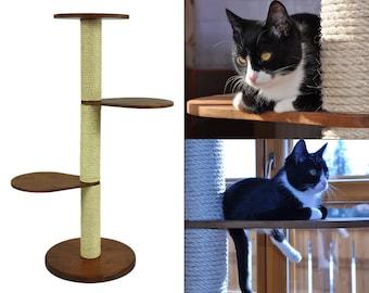 Natural wood Cat Tree • Basic 3M • custom cat tree • beautiful, sturdy • solid wood • minimalistic cat tree • cat furniture • cat perch