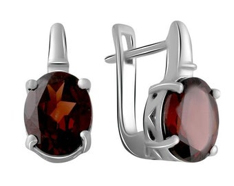 Sterling Silver Connector Garnet Bali Silver Sterling Silver Charms