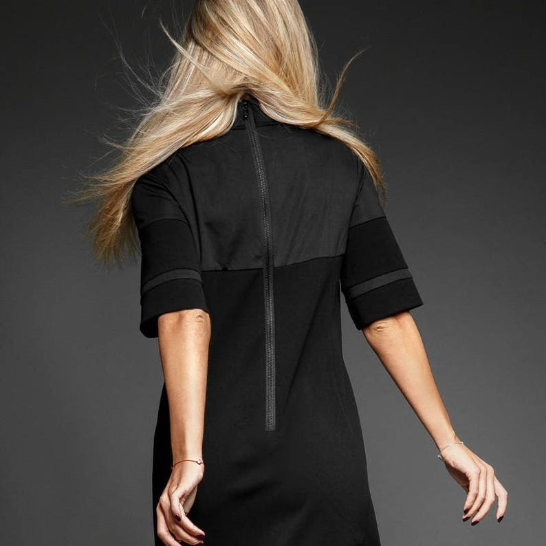 54ac61521b9a35 Zwarte jurk oversize   Party dress   korte zwart jurk   zwart