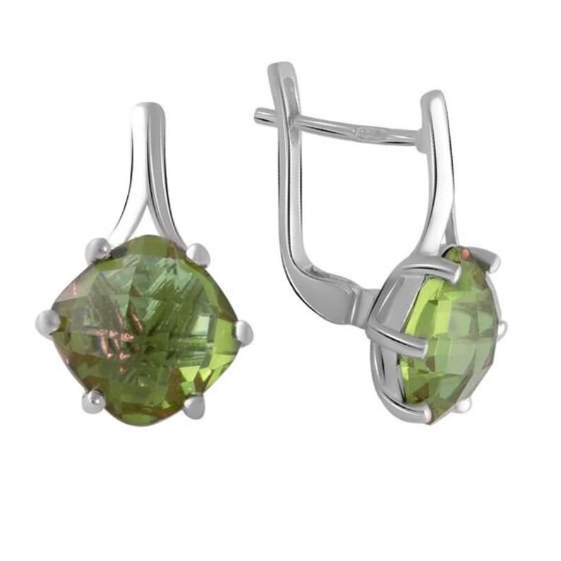 square earrings rectangle earrings minimalist 925 silver earrings gemstone earrings silver earrings Silver earrings with zultanite