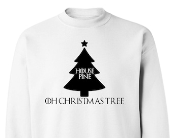 Game of Thrones TV Show Inspired House Pine Ugly Christmas Holiday Sweater