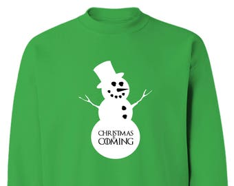 Game of Thrones Style Snowman Christmas is Coming Sweatshirt