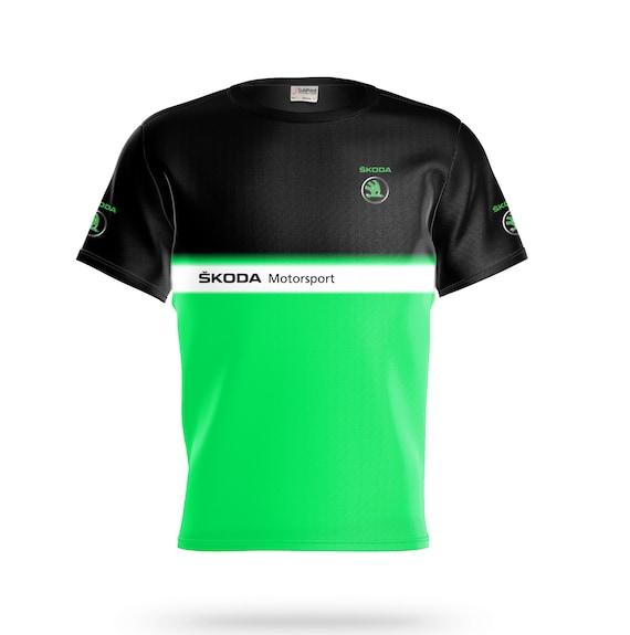 Skoda T Shirt Embroidered Auto Car Logo Tee Fabia Octavia Mens Clothing Gift