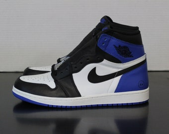 Nike Air Jordan 1 Custom Fragment Hyper Game Royal Blue Frag Friends and  Family c0df7cb26