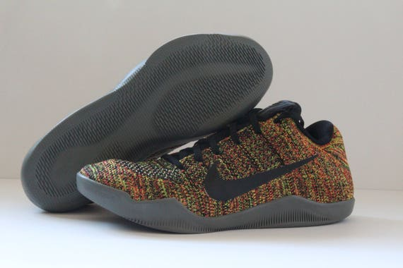 11Etsy Chaussures Multicolore Personnalisé Nike Kobe Xi Flyknit AR3j45L