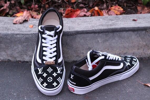 4a2d09048d LV x Supreme Vans Old Skool Custom Shoe